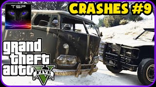 GTA V - CRASHES & ACCIDENTS (Real Damage + Snow Mods) #9