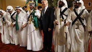 President Trump Dances in Saudi Arabia - Donald Trump Traditional Saudi Sword Dance