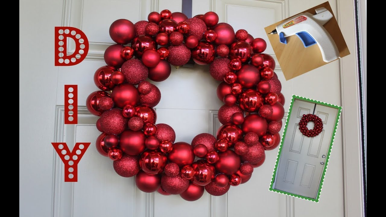 Easy Diy Ornament Wreath Youtube