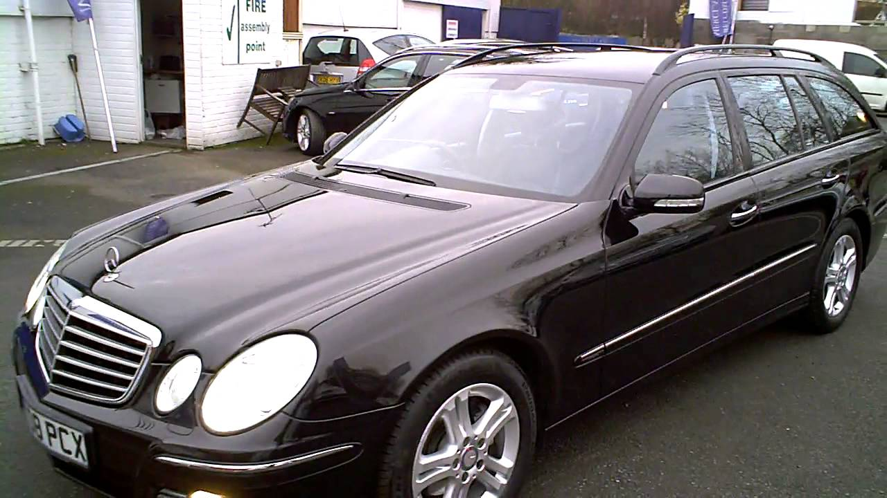 2008 mercedes e220 cdi avantgarde estate auto diesel black youtube. Black Bedroom Furniture Sets. Home Design Ideas