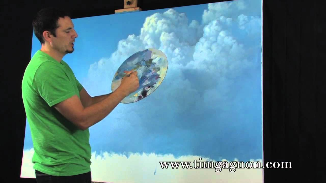 Painting Tips And Tricks Tutorial 3 On Great Clouds In Oil Or Acrylic By Tim Gagnon