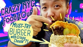 Download BEST NOODLES & BURGER Tour of New York City Mp3 and Videos