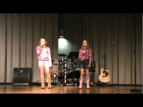 Lexi and Kinsley, talent  singing The climb