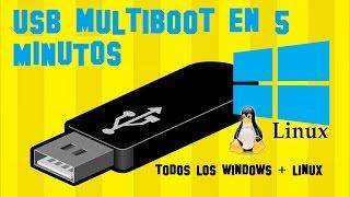 Crear USB MULTIBOOT con todos los Windows + Linux + Antivirus en 5 minutos - EL METODO MAS FACIL