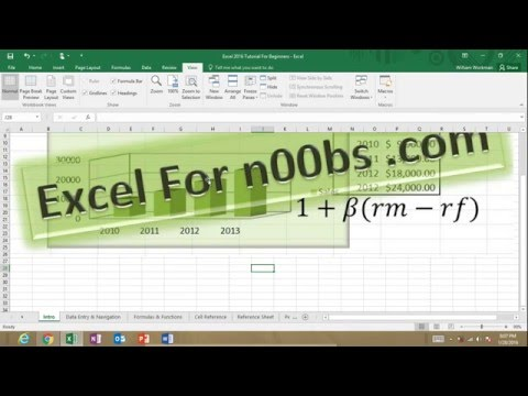 Excel 2016 Tutorial Training for Beginners | Learn How to Use Excel Formulas Functions Charts Tables