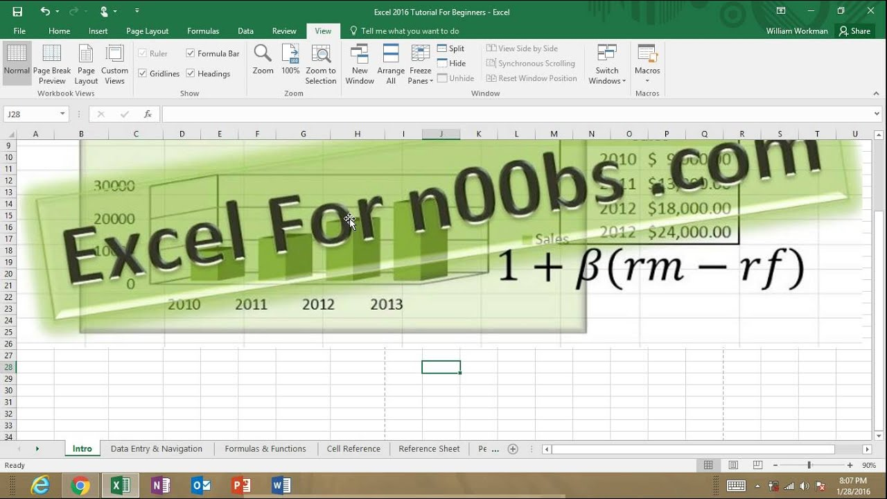 excel 2016 tutorial training for beginners learn how to use excel