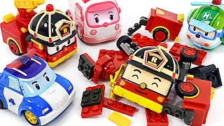 Tayo the little bus, friends are dangerous! Robocar Poli Roy Block dispatch! | PinkyPopTOY