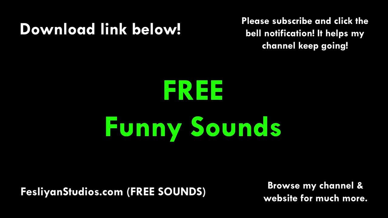 Free Funny Sound Effects Mp3 Download Fesliyanstudios