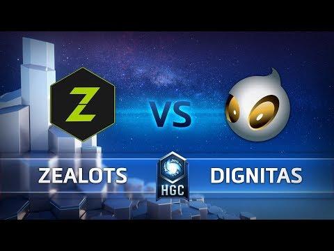 HGC EU - Phase 1 Week 10 - Zealots vs. Team Dignitas - Game 1