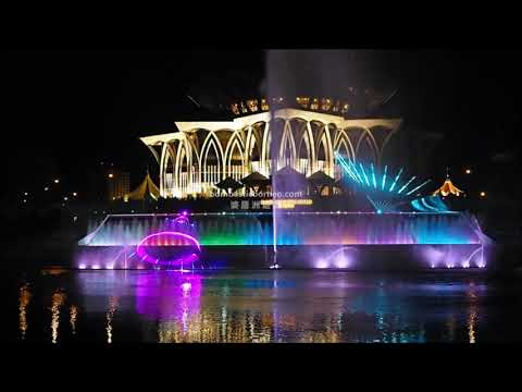 Sparkling Kuching Waterfront, Sarawak Tourist Attraction Mal