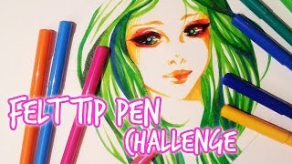 Felt Tip Pens ★ Challenge ★ Cheap Supplies
