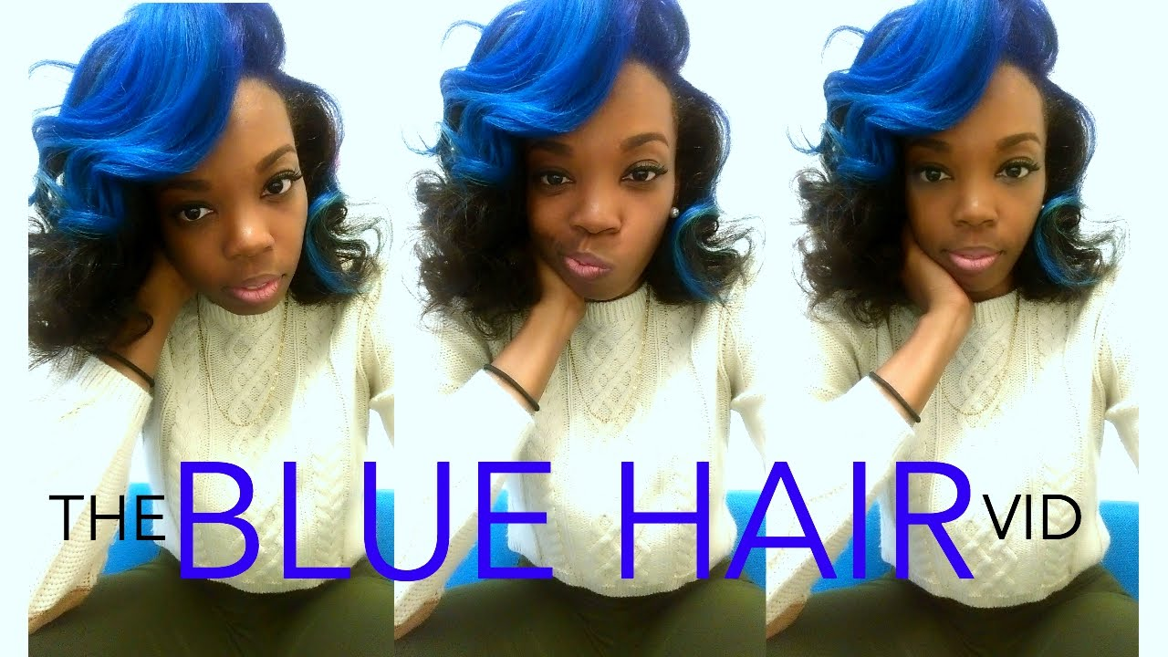 Natural Hair Dying My Hair Blue Youtube