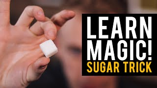 Learn sleight of hand magic tricks! Impossible Jumping Sugar Cubes Trick!