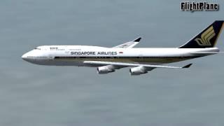 FS2004 Singapore Airline 747 from Soekarno Hatta Jakarta to Changi Singapore flightplane