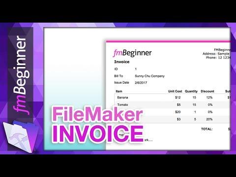 FileMaker Beginner Tutorial - Invoice Database