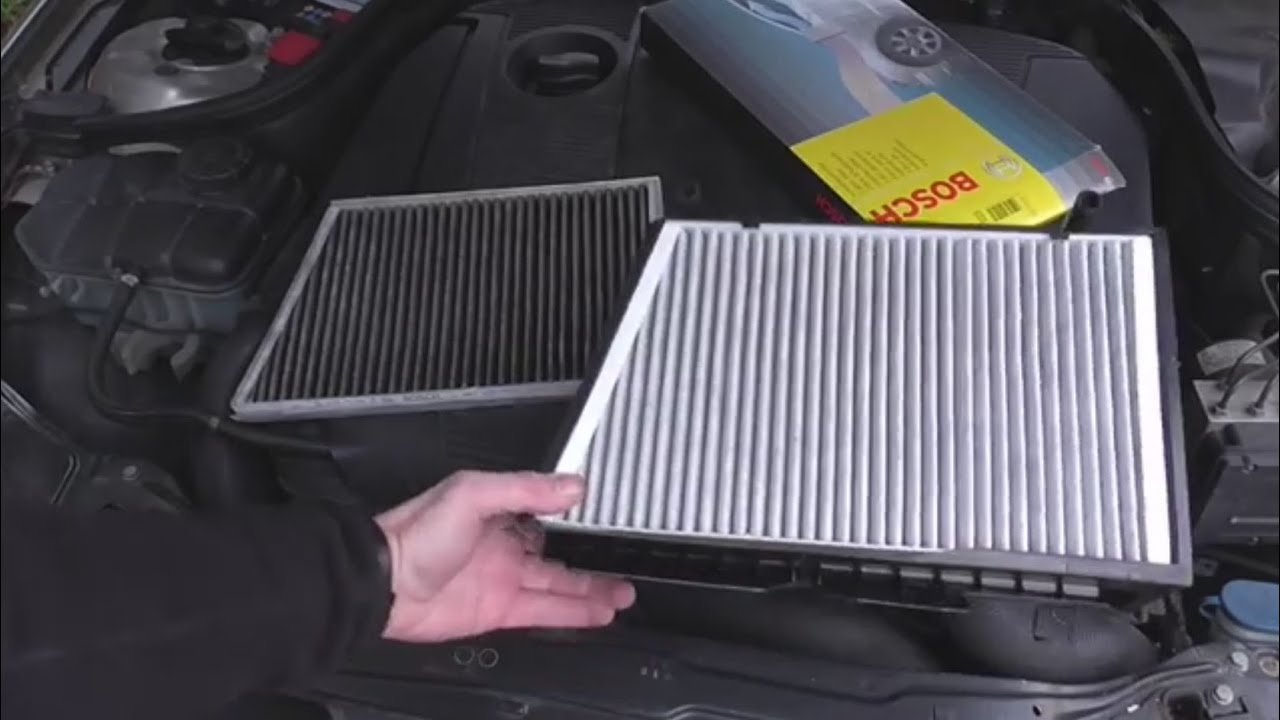 Mercedes c and clk class interior cabin filter renewal for What size cabin air filter do i need