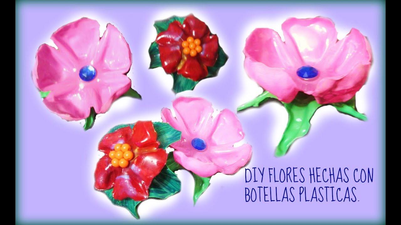 Como hacer flores con botellas de plastico reciclado - Como hacer flores ...