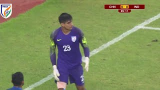 gurpreet singh sandhu vs China Goal save highlights