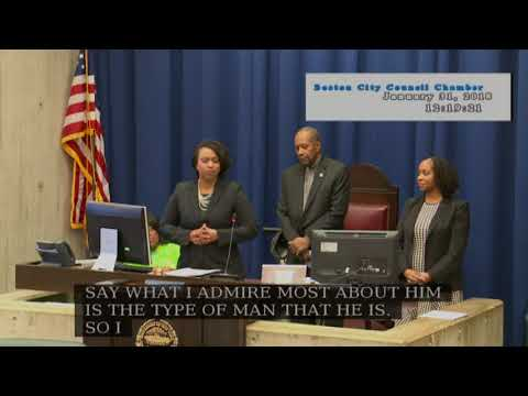 Boston City Council Meeting on January 31, 2018