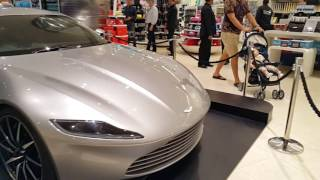 Aston Martin of James Bond 007 at Burj Khlalifa in Dubai 10.11.2016