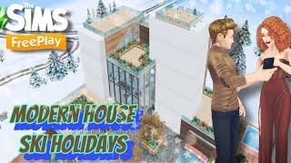 Современный дом в горах Отдых на горнолыжном Ski Holidays in The Sims FreePlay