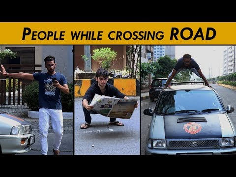 People while crossing the Road   Funcho Entertainment
