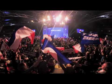 VIDEO 360 : French election: Marine Le Pen holds rally in Paris