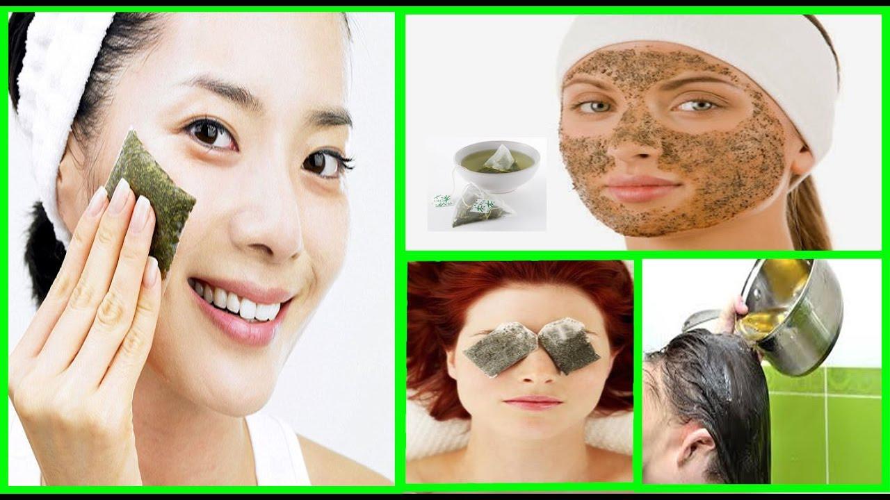 Green tea bag on face acne