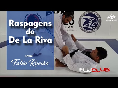 Raspagens da De La Riva com Fabio Romão - Jiu Jitsu - BJJCLUB
