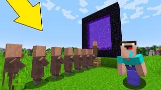 Minecraft NOOB vs PRO : WHY VILLAGER HIDE THIS BIG QUEUE?! Animation