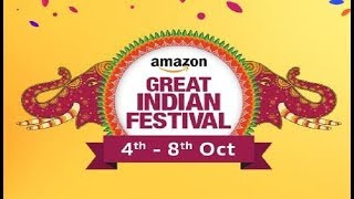 Amazon Great Indian Festival I 4th OCT to 8th Oct I Exchange Offers I 80% off on Mobiles