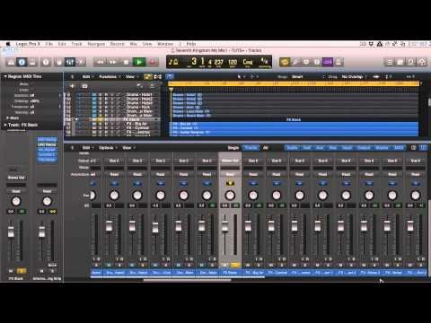 Logic Pro X Track Stacks