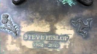 steven hizzy hislop. (wilton lodge park hawick) statue