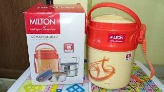 Milton Odyssey Deluxe 3 Plastic Leak Lock Tiffin Box Set | Lunch Box | Tiffin Box