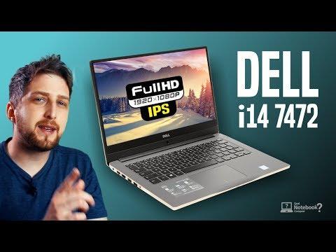Notebook Dell Inspiron i14 7472 | Série 7000 de 2018 em metal e teclado iluminado