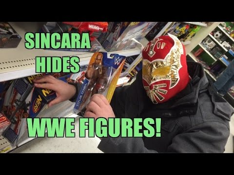 SINCARA hides WWE FIGURE at TARGET! Wrestling Figures Toy HUNT