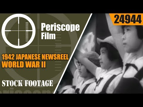 1942 JAPANESE NEWSREEL WORLD WAR II  SURRENDER OF AMERICANS & WORK CAMP  24944