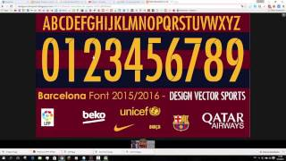 BARCELONA DE ESPAÑA 2015 2016 FONT VECTOR AND TTF FREE DOWNLOAD