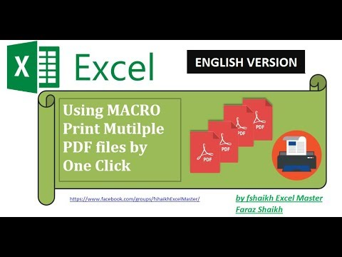 Print Bulk PDF Files by One click In Excel 2016
