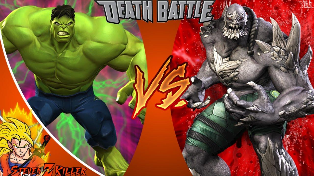 HULK VS DOOMSDAY _ DEATH BATTLE! (MARVEL VS DC) REACTION ... Doomsday Vs Hulk Death Battle Reaction