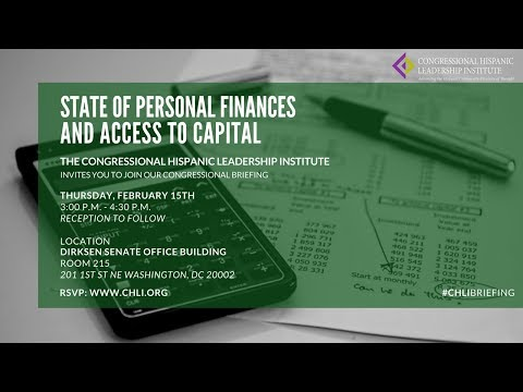 CHLI Briefing: State of Personal Finances & Access to Capital