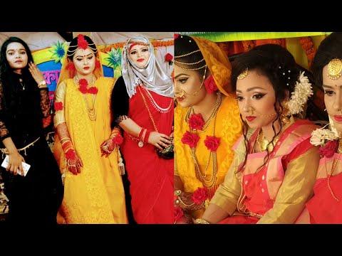 হলুদের অনুষ্ঠানের আজব নাচ আর গান দেখুন 🙊🙈😜/We are ready to go holud party /Bangladeshi mom thumbnail