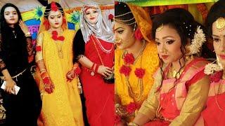 Download Video হলুদের অনুষ্ঠানের আজব নাচ আর গান দেখুন 🙊🙈😜/We are ready to go holud party /Bangladeshi mom MP3 3GP MP4