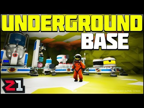 Building our UNDERGROUND CAVE BASE on RADIATED! Astroneer Update 10 Gameplay | Z1 Gaming