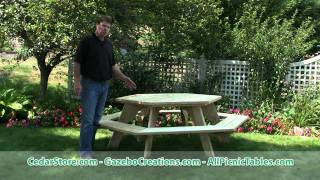 Treated Pine Hexagon Picnic Table From Cedarstore.com
