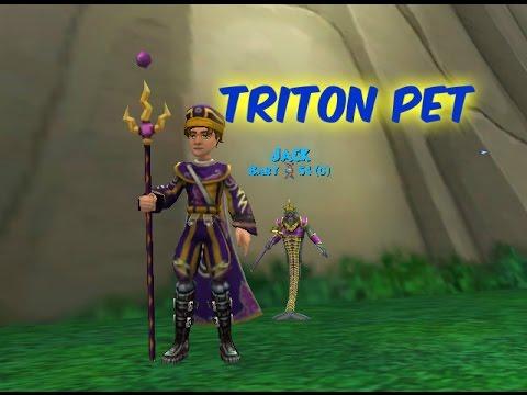 Triton Pet - Level 78 Storm Pet Quest (Wizard101) - YT
