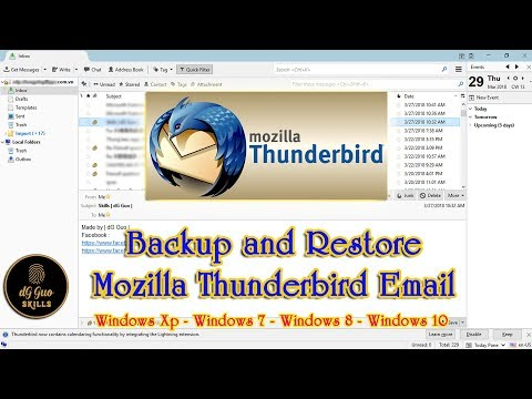 💻🖥 How To Backup And Restore Your Profile In Mozilla Thunderbird Email