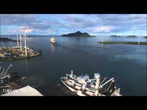 Queen Victoria leaving Port Victoria