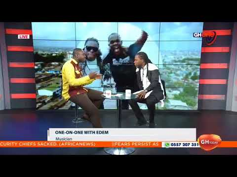 MUSIC: Edem raps and chats with Kafui Dey on GHOne TV