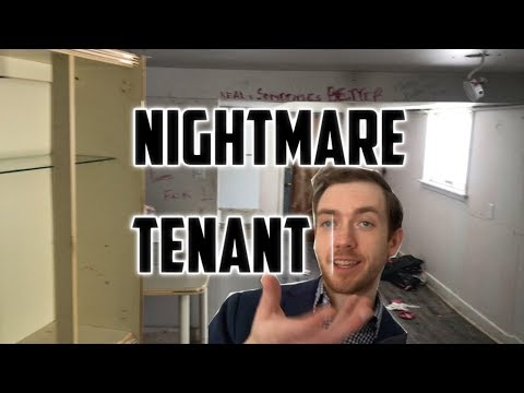 Landlord Nightmare: Problem Tenant: Real Estate Property Trashed by Tenant During Eviction